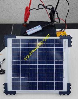 chargeur de batterie autonome avec panneau solaire 10w tm 524b. Black Bedroom Furniture Sets. Home Design Ideas